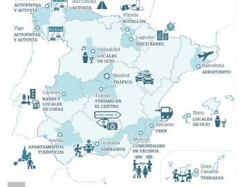 Las denuncias y quejas contra el ruido vertebran España