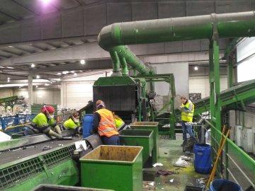 Reducción general de ruido en planta de reciclado en Madrid